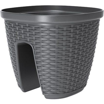 emsa Geländertopf AQUA PLUS CASA MESH, 300 x 300 mm, granit