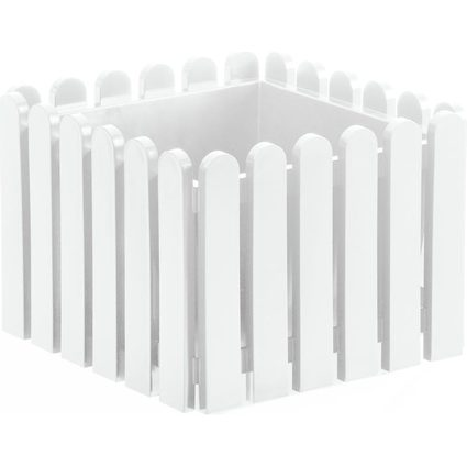 emsa Blumenkübel LANDHAUS, quadratisch, (B)380 mm, weiß