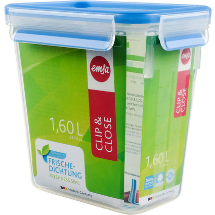 emsa Frischhaltedose CLIP & CLOSE, 1,60 Liter, transparent