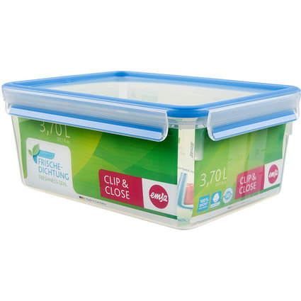 emsa Frischhaltedose CLIP & CLOSE, 3,70 Liter, transparent