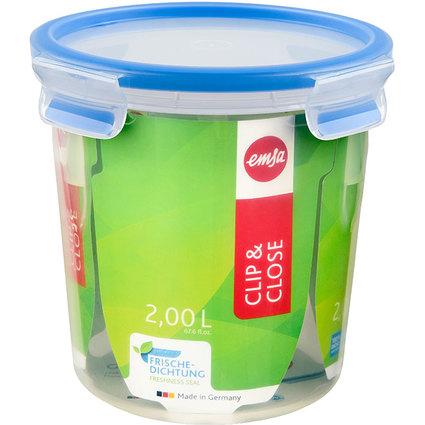 emsa Frischhaltedose CLIP & CLOSE, 2,00 Liter, transparent