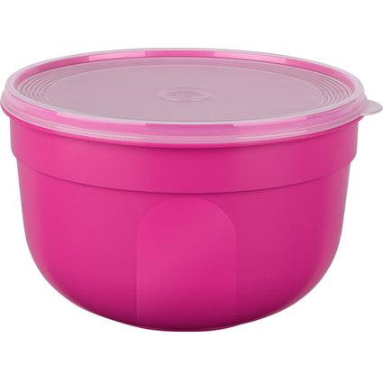 emsa Frischhaltedose SUPERLINE, 2,25 Liter, rund, pink