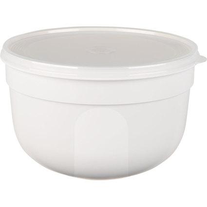emsa Frischhaltedose SUPERLINE Colour, 4,0 Liter, rund, weiß