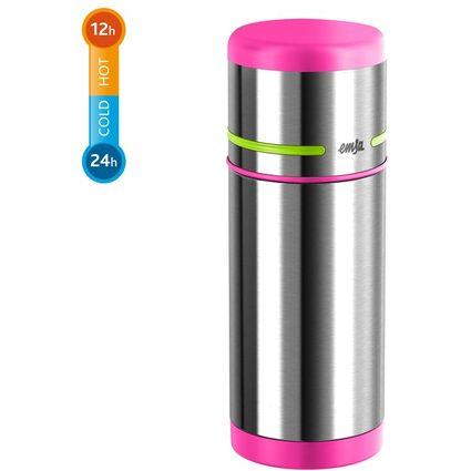 emsa Isolierflasche MOBILITY KIDS, 0,35 Liter, pink/grün