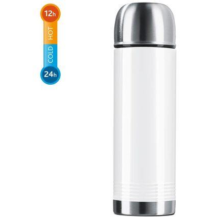 emsa Isolierflasche SENATOR COLOR COLL, 0,7 Liter, weiß