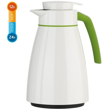 emsa Isolierkanne BELL Colour, 1,0 Liter, weiß / grün