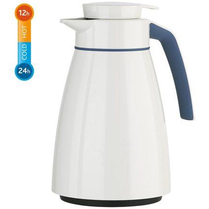 emsa Isolierkanne BELL Colour, 1,0 Liter, weiß / blau