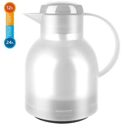 emsa Isolierkanne SAMBA, 1,0 Liter, transluzent-weiß