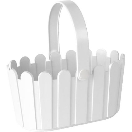 emsa Blumenkübel LANDHAUS Körbchen, rechteckig, weiß