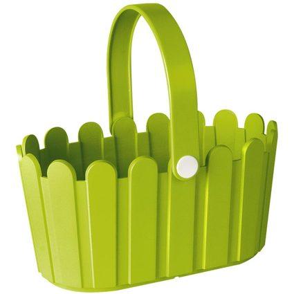 emsa Blumenkübel LANDHAUS Körbchen, rechteckig, grün