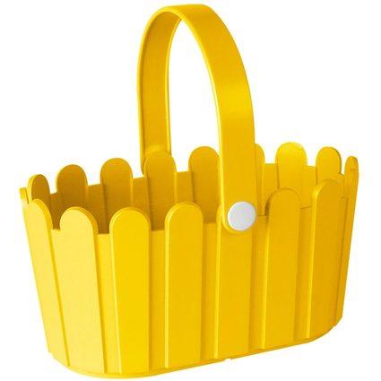 emsa Blumenkübel LANDHAUS Körbchen, rechteckig, gelb