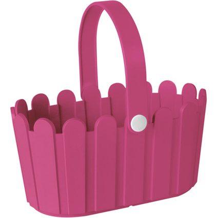 emsa Blumenkübel LANDHAUS Körbchen, rechteckig, pink
