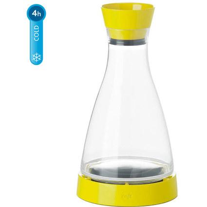 emsa Kühlkaraffe FLOW Friends, 1,0 Liter, gelb/klar