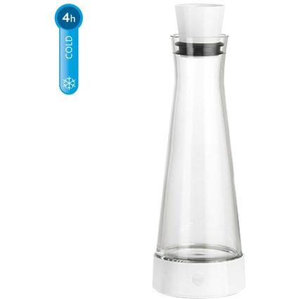 emsa Kühlkaraffe FLOW Slim Friends, 1,0 Liter, weiß