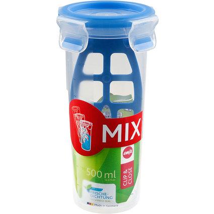 emsa Mixbecher CLIP & CLOSE, 0,50 Liter, transparent
