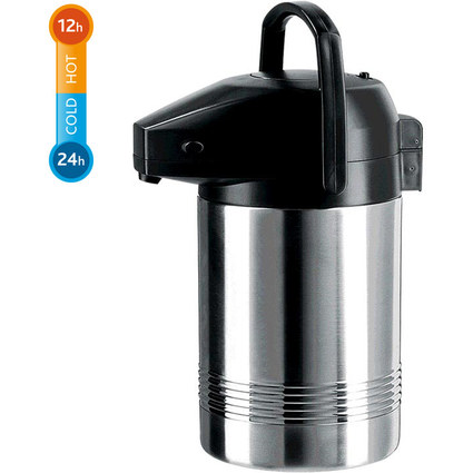emsa Pump-Isolierkanne PRESIDENT, 3,0 Liter, Edelstahl