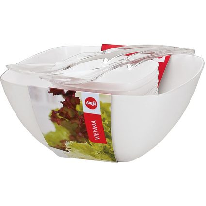 "emsa Salat-Set ""VIENNA"", 6-teilig, Kunststoff, weiß"