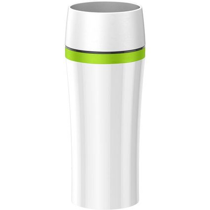 emsa Isolierbecher TRAVEL MUG FUN, 0,36 L., weiß/grün