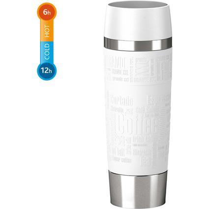 emsa Isolierbecher TRAVEL MUG Grande, 0,50 Liter, weiß