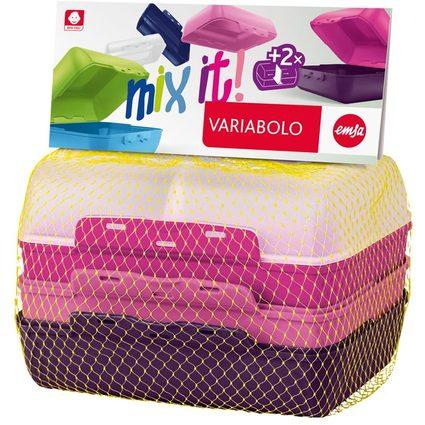 emsa Brotdose VARIABOLO Clipbox Set Girls, 4-teilig, farbig