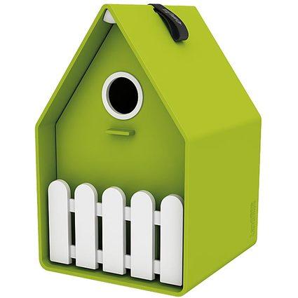 emsa Vogelhäuschen LANDHAUS, Kunststoff, grün