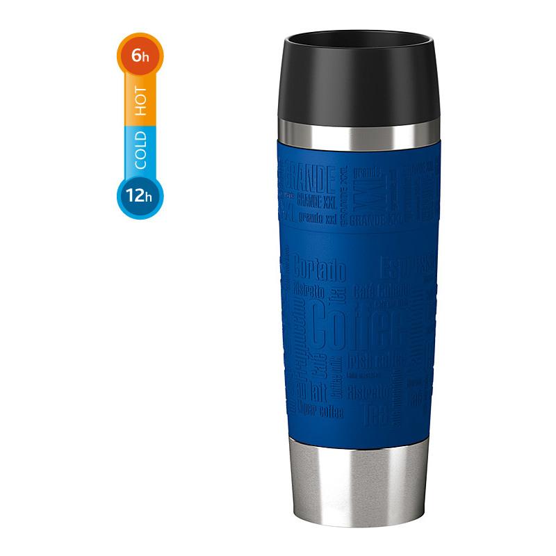 emsa isolierbecher travel mug grande 0 50 liter blau. Black Bedroom Furniture Sets. Home Design Ideas