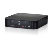 ATEN dual View kvmp Switch, USB, 2-fach, schwarz