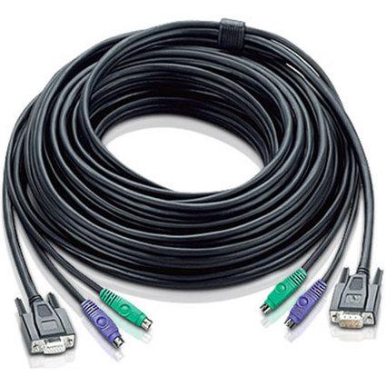 ATEN KVM Slim-Line Kabel PS/2, Länge: 10,0 m