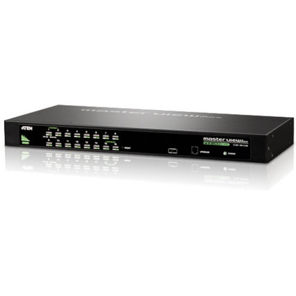 """ATEN 19"""" KVM Switch USB & PS/2, 16-fach, schwarz"""