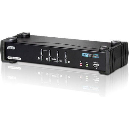 ATEN DVI Link KVM Switch mit USB + DVI + Audio, 4-fach