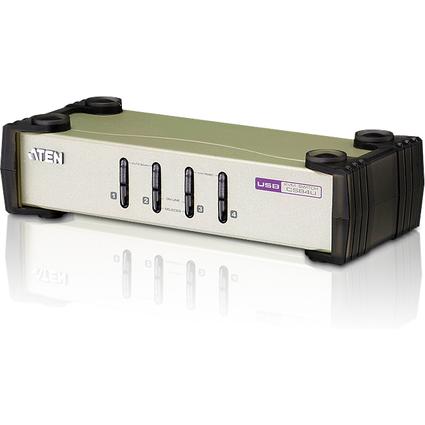 ATEN Destkop KVM Switch CubiQ, PS/2 und USB, 4-fach