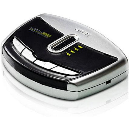 ATEN USB 2.0 Sharing Switch, 4-fach, silber/schwarz