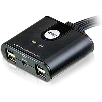 ATEN USB 2.0 Sharing Switch, 4-fach, schwarz