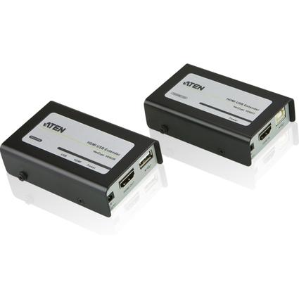 ATEN HDMI / USB Extender-Set, 60 m Reichweite, schwarz