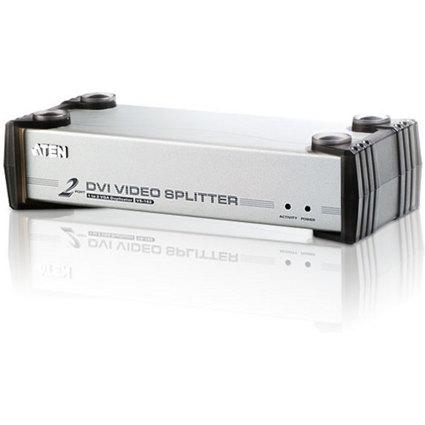 ATEN VanCryst DVI Splitter mit Audio, 2-fach, Metallgehäuse