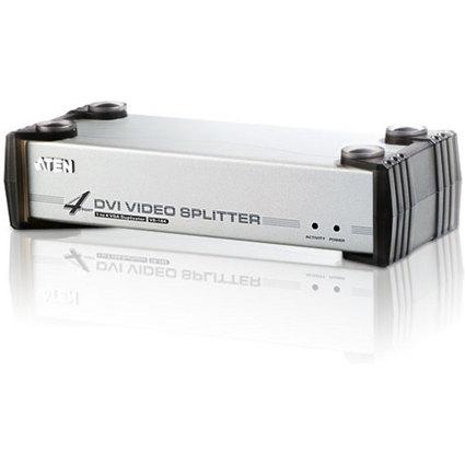 ATEN VanCryst DVI Splitter mit Audio, 4-fach, Metallgehäuse