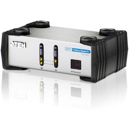 ATEN VanCryst DVI Switch mit Audio & Fernbedienung, 2-fach