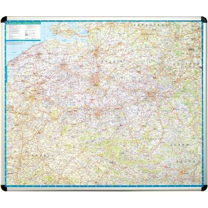 nobo Landkarte Belgien, magnethaftend