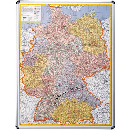nobo Postleitzahlenkarte Deutschland, magnethaftend