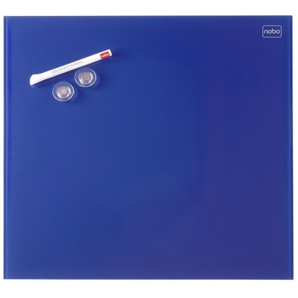 nobo Glas-Magnettafel Diamond, (B)300 x (H)300 mm, blau