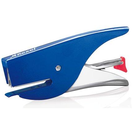 Rexel Heftzange VX15, silber / blau