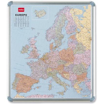 nobo Europakarte, magnethaftend, Maße: (B)946 x (H)1106 mm