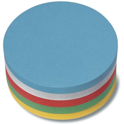 nobo Moderationskarte Kreise, 130 g/qm, Durchmesser: 95 mm