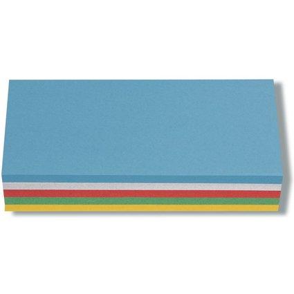 nobo Moderationskarte Rechteck, 130 g/qm, 95 x 205 mm