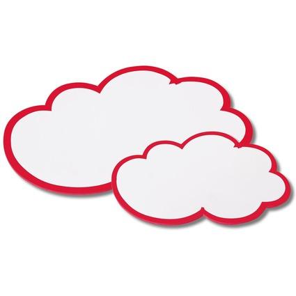 nobo Moderationskarte Wolken, 170 g/qm, 420 x 250 mm