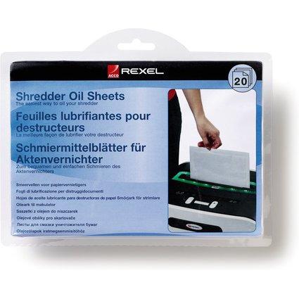 Rexel Schmiermittel-Blätter für Aktenvernichter, 20 Blatt