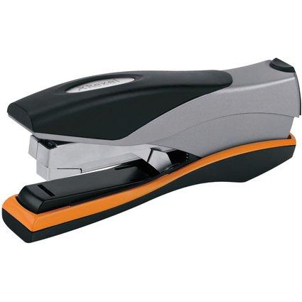 Rexel Flachheftgerät Optima 40, schwarz/silber/orange