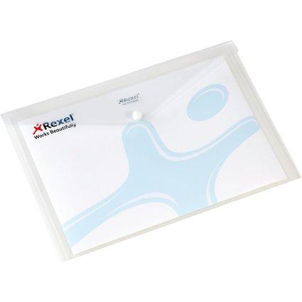 Rexel Dokumententasche Folder, DIN A4, weiß-transluzent