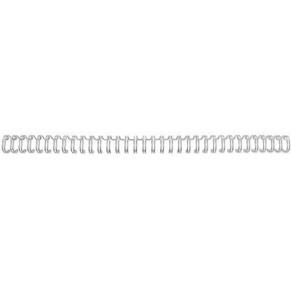 GBC Drahtbinderücken WireBind, A4, 34 Ringe, 12,5 mm, silber