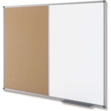 nobo Kombitafel, Weißwand/Kork, Maße: (B)1.200 x (H)900 mm
